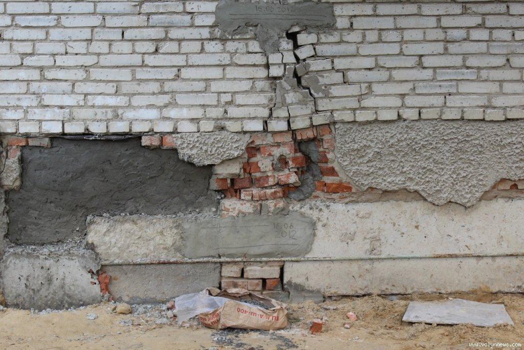 Появились трещины в фундаменте (ленточный, плитный).