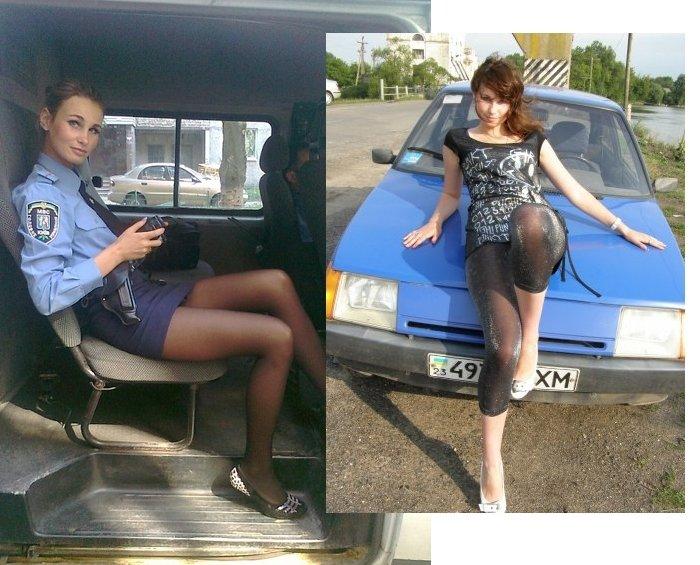 фото девушки милиции в юбках