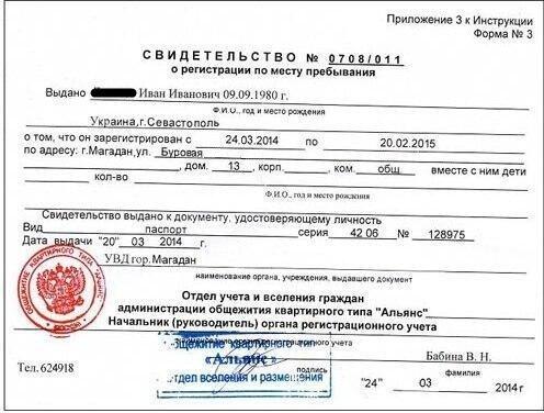 Как сделать регистрацию по месту пребывания для граждан 428