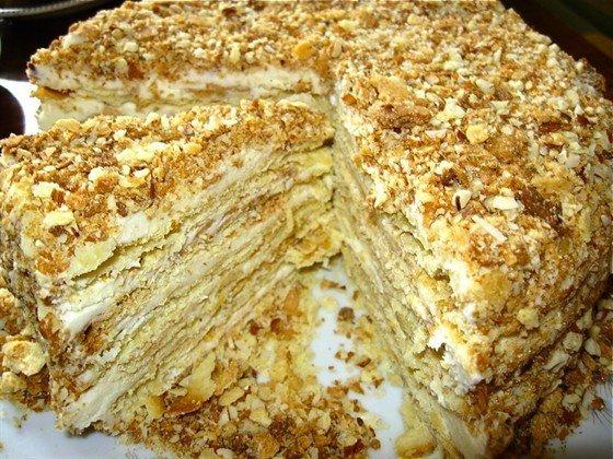 Торт наполеон большой пошаговый рецепт с фото