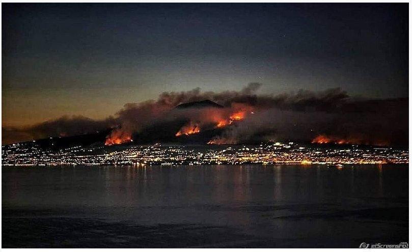 В Італії горять схили вулкану— відео