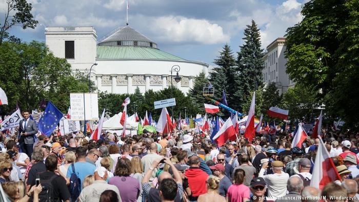 УВаршаві проходять масові акції протесту
