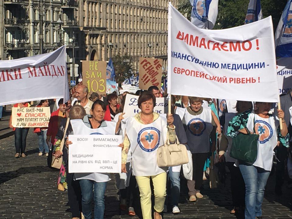 НаГрушевського протестують лікарі - центр перекрито