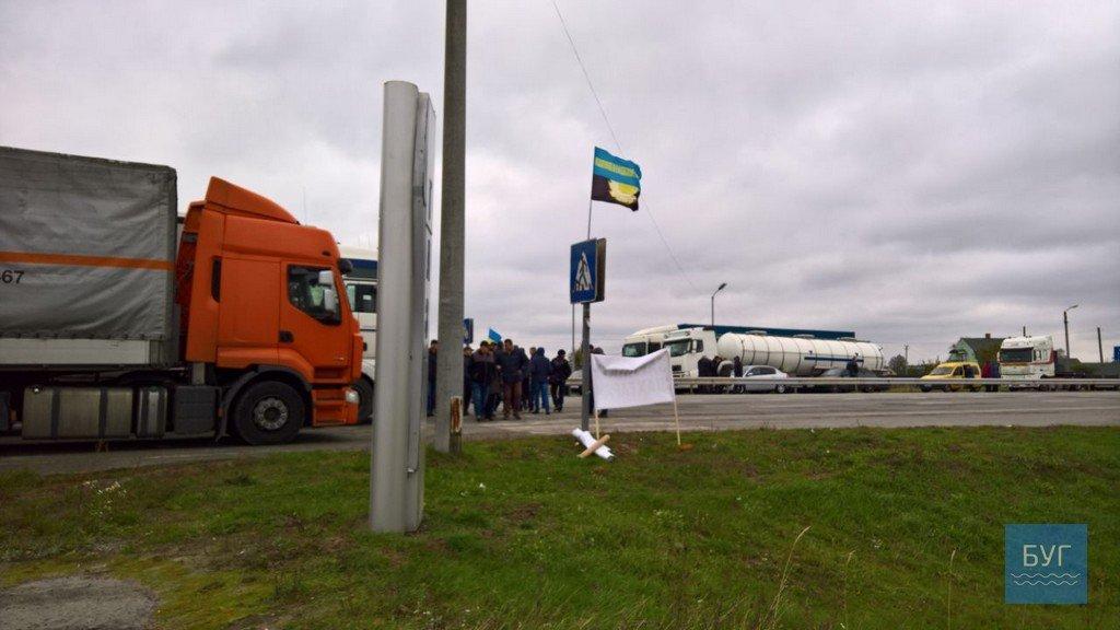 Шахтарі перекрили трасу Київ-Варшава накордоні зПольщею