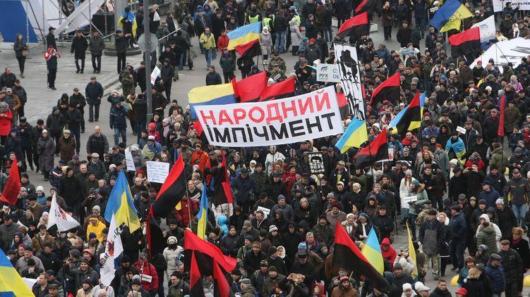 Поліція назвала кількість учасників «Маршу за імпічмент» уКиєві