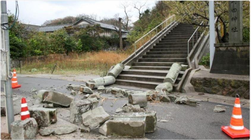 ВЯпонії стався потужний землетрус, чотири людини постраждали