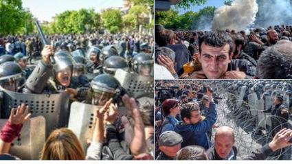 Колючий дріт, сльозогінний газ і шумові гранати: у Вірменії масові протести