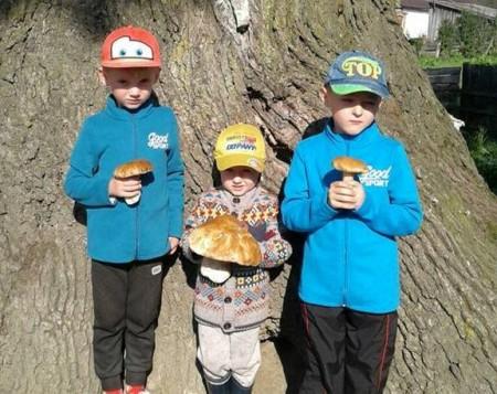На Волині 3-річний хлопчик «вполював» 850-грамового гриба