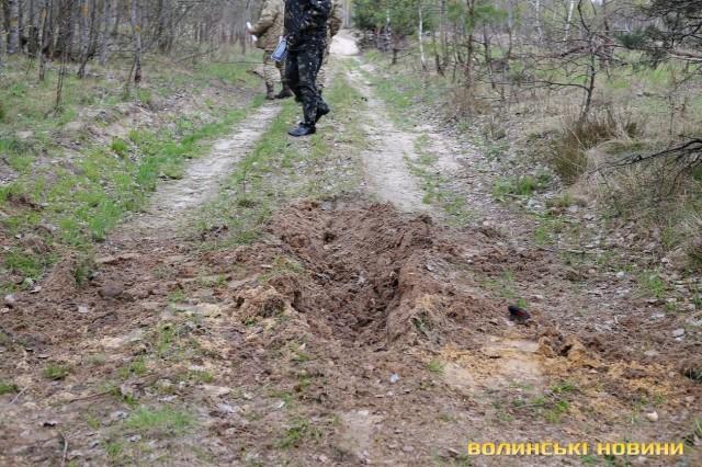 Місце удару бомби П-50Т об землю