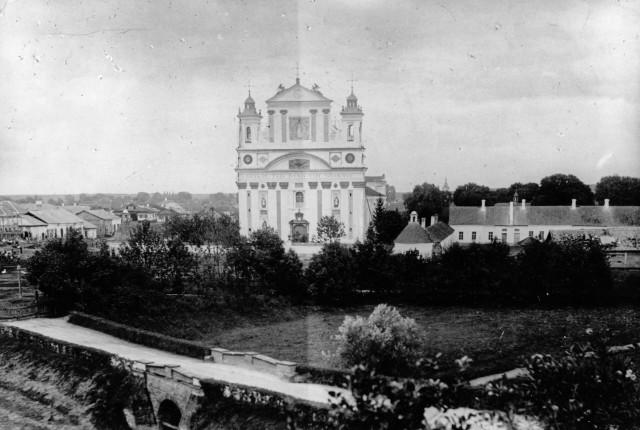 Вигляд на костел Святої Трійці, 1939 р.