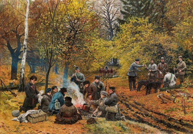 Картина «Полювання біля Олики», 1889 р.