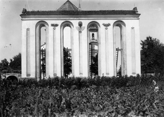 Дзвіниця біля костелу, фото до 1945 р.