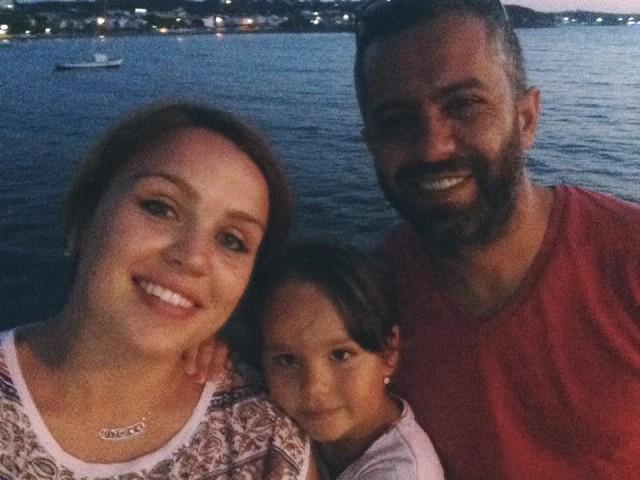 Юлія Наджар-Троцюк з сім'єю