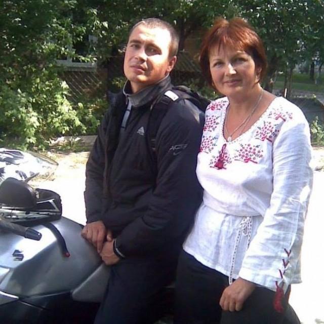 Ольга Мандзик разом із сином
