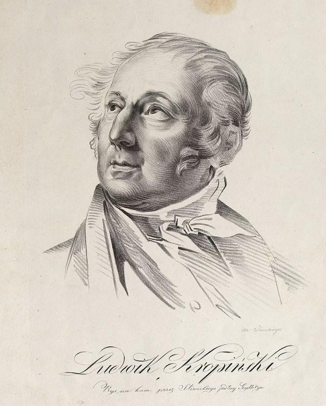 Людовик Кропинський, 1822 р.