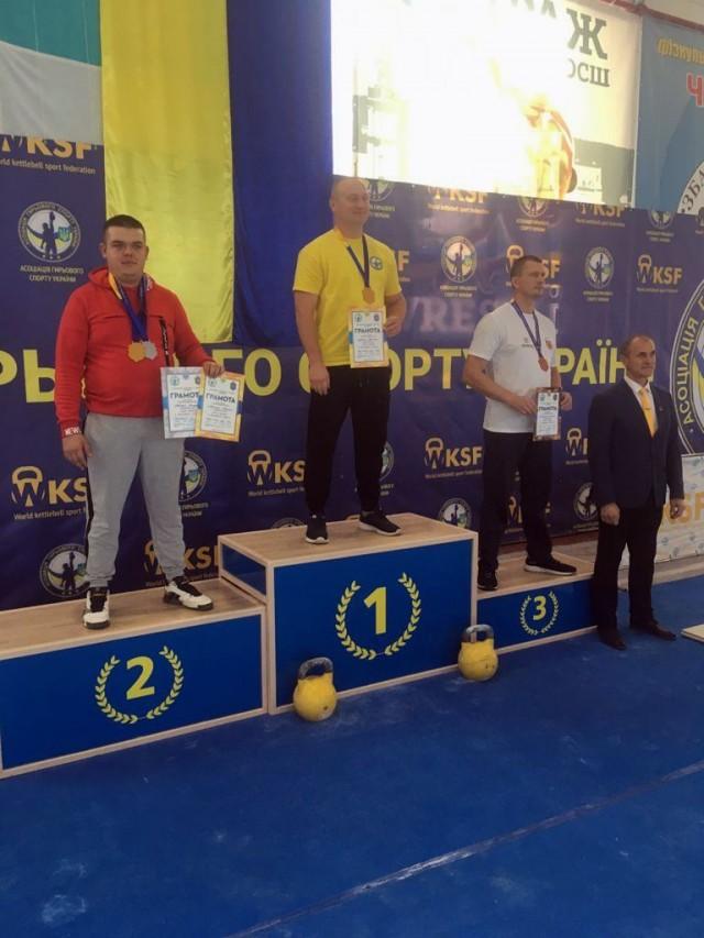 Волинський прикордонник здобув золото та срібло на Кубку України з гирьового спорту